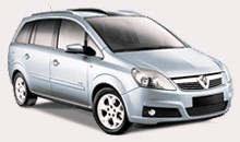 Car Hire - Vauxhall Zafira